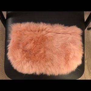 Handbags - Furry Clutch/Pouch/Makeup Case Pink Cute